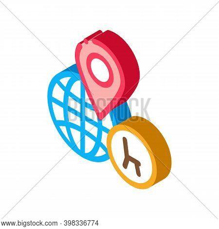 Furniture Shop Location Icon Vector. Isometric Furniture Shop Location Sign. Color Isolated Symbol I