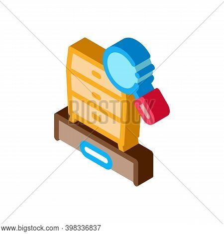 Commode Research Icon Vector. Isometric Commode Research Sign. Color Isolated Symbol Illustration
