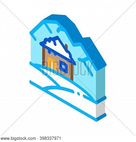 Arctic House Icon Vector. Isometric Arctic House Sign. Color Isolated Symbol Illustration