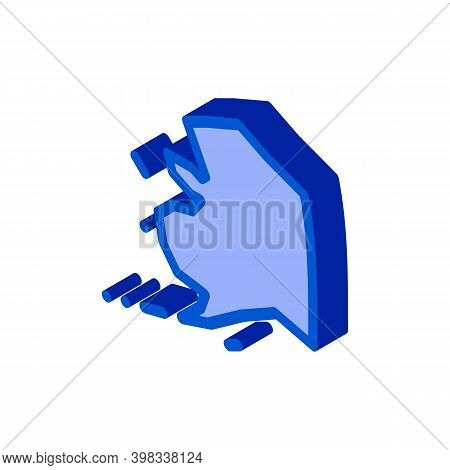 Arctic Continent Icon Vector. Isometric Arctic Continent Sign. Color Isolated Symbol Illustration