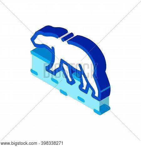 Polar Bear Icon Vector. Isometric Polar Bear Sign. Color Isolated Symbol Illustration