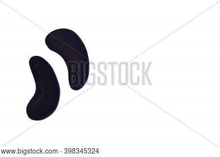 Black Gel Patches On A White Background