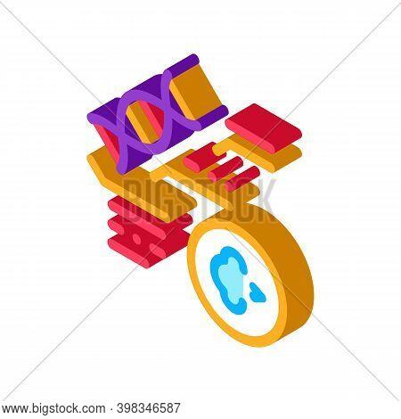 Genetic Disease Asthma Color Icon Vector. Isometric Genetic Disease Asthma Sign. Color Isolated Symb