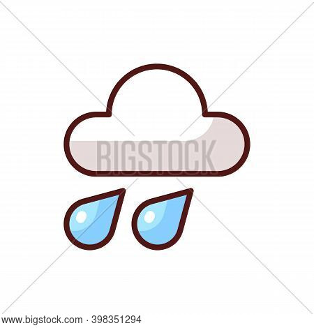 Weather Forecast App Rgb Color Icon. Meteorological Software. Real-time Weather Data. Temperature, H