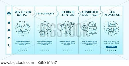 Breastfeeding Pros Onboarding Vector Template. Higher Iq In Future. Appropriate Weight Gain. Respons