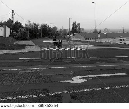 Chomutov, Czech Republic - October 20, 2020: Empty Pay Parking