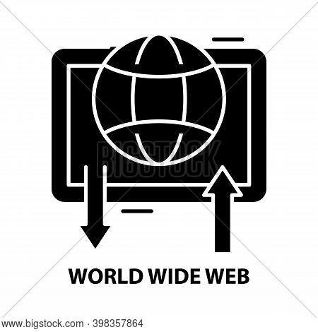 World Wide Web Icon, Black Vector Sign With Editable Strokes, Concept Illustration