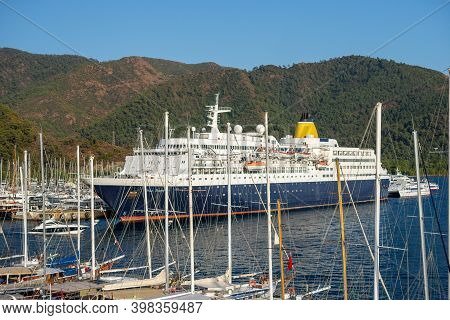 Marmaris,turkey November 2020: Blue Sapphire Is Cruise Ship Owned And Operated Anex Tour. Was Sold T