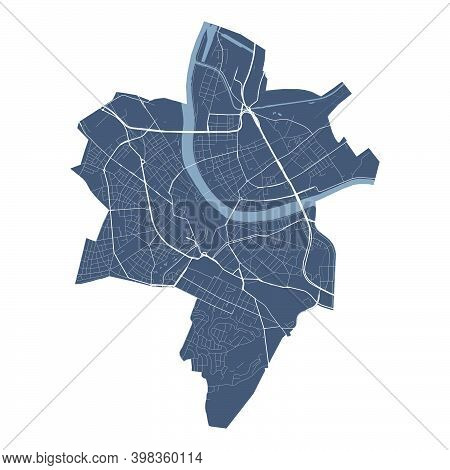 Basel Map. Detailed Vector Map Of Basel City Administrative Area. Cityscape Poster Metropolitan Aria
