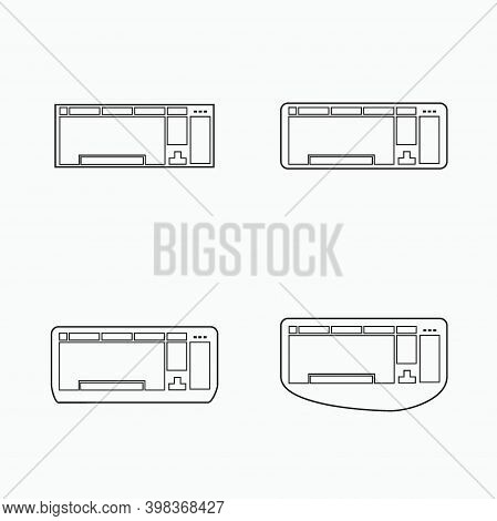 Keyboard Icon Set - Computer Peripheral Silhouette
