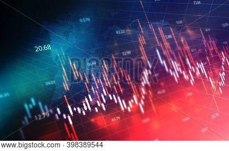 Financial Stock Market Graph On Technology Abstract Background, Creative Forex Chart Wallpaper, Fina