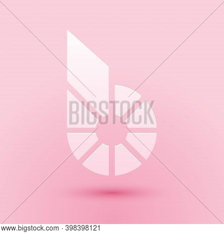 Paper Cut Cryptocurrency Coin Bitshares Bts Icon Isolated On Pink Background. Physical Bit Coin. Dig
