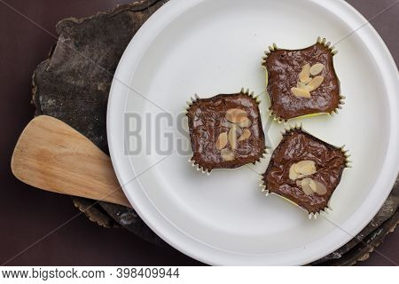 He Brownies Were Photographed Zoomed In For Advertising And Set Up, The Brownies Were Placed On A Wh