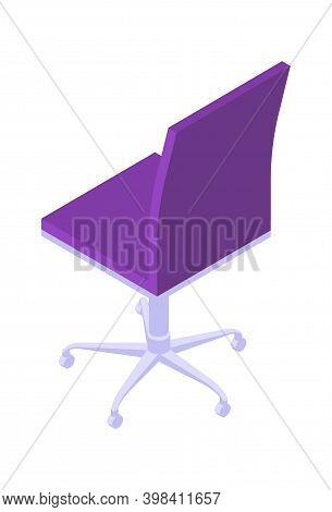 Office Swivel Chair Isometric Icon, Cartoon Vector Illustration
