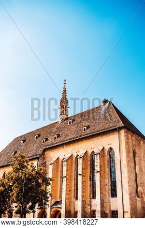 Traditional Cathedral building in Strasbourg, France
