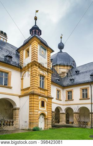 Palace (schloss) Seehof Was Built From 1684 To 1695 Near Bamberg, Germany. Courtyard