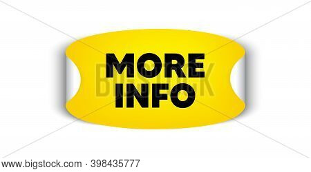 More Info Symbol. Adhesive Sticker With Offer Message. Navigation Sign. Read Description. Yellow Sti