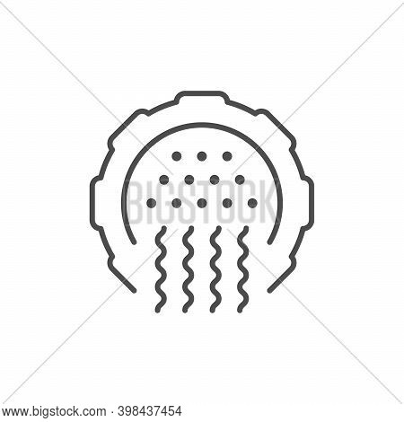 Chopped Meat Line Outline Icon Isolated On White. Vector Illustration