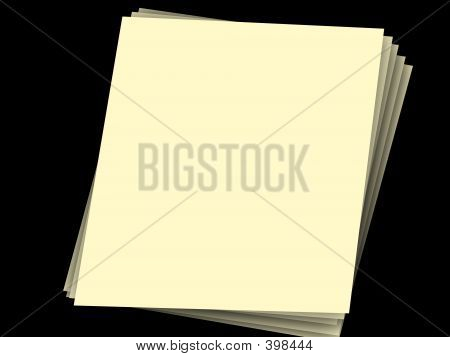Stack Of Papers On Black