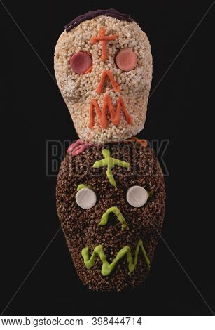 Traditional Amaranth Candy Mexican Skull, Day Of The Dead