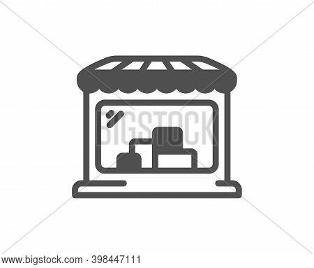 Market Icon. Wholesale Store Sign. Retail Marketplace Symbol. Quality Design Element. Flat Style Mar