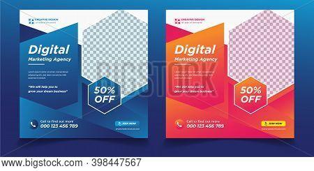 Digital Business Marketing Agency, Digital Business Marketing Agency Social Media Post Template,