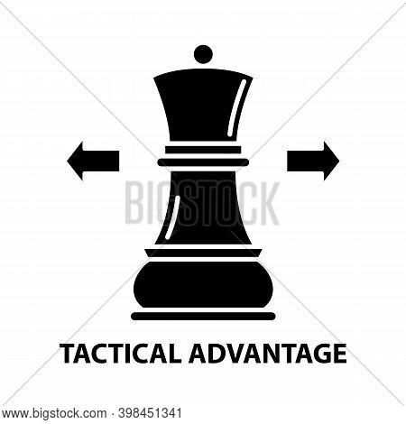 Tactical Advantage Icon, Black Vector Sign With Editable Strokes, Concept Illustration