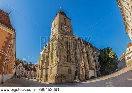 Brasov, Transylvania, Romania - July 11, 2020: Black Church, A Church That Was Built By The German C