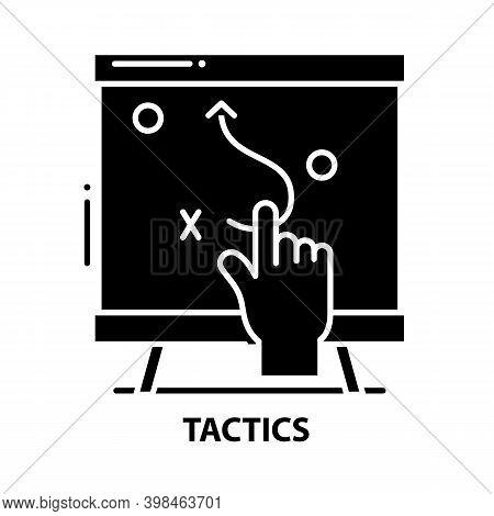 Tactics Symbol Icon, Black Vector Sign With Editable Strokes, Concept Illustration