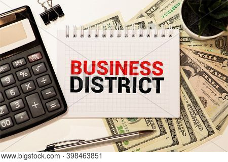 Word Writing Text Central Business District. Business Concept For Commercial And Business Center Of