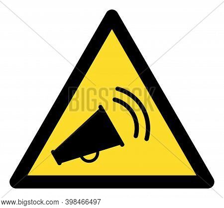 Marketing Noise Warning Icon With Flat Style. Isolated Vector Marketing Noise Warning Icon Image On