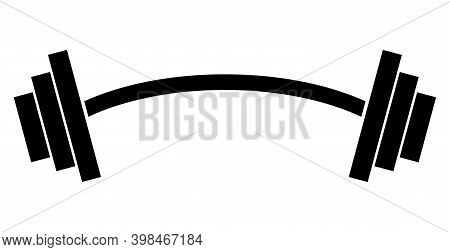 Heavy Barbell Icon With Flat Style. Isolated Vector Heavy Barbell Icon Image On A White Background.