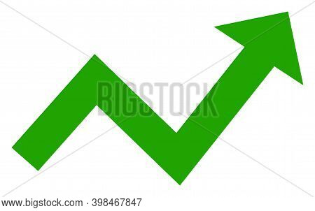 Trend Up Arrow Icon With Flat Style. Isolated Vector Trend Up Arrow Icon Image On A White Background