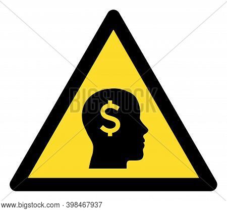 Banker Warning Icon With Flat Style. Isolated Vector Banker Warning Icon Image On A White Background