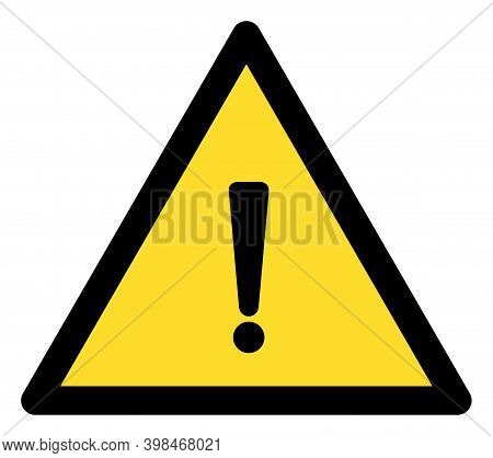 Exclamation Warning Icon With Flat Style. Isolated Vector Exclamation Warning Icon Image On A White
