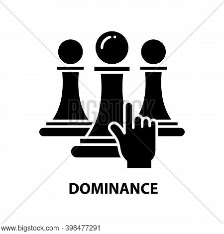 Dominance Icon, Black Vector Sign With Editable Strokes, Concept Illustration