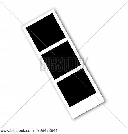 Retro Retro Film Frames, Great Design For Any Purposes. White Background. Vector Blank Cinema Film S