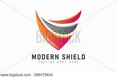Modern Shield Logo Design. Abstract Colorful Logo Design Usable For Business, Foundation, Industrial