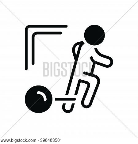 Black Solid Icon For Burden Load Overload Fetter Bilbo Gyve Run