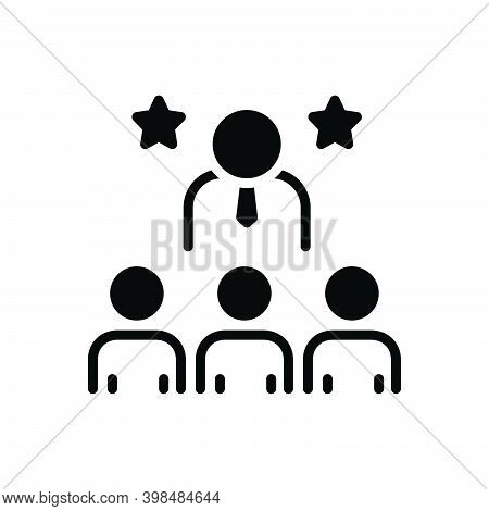 Black Solid Icon For Dominant Assertive Commanding Leading  Powerful Principal Administrator Chief D