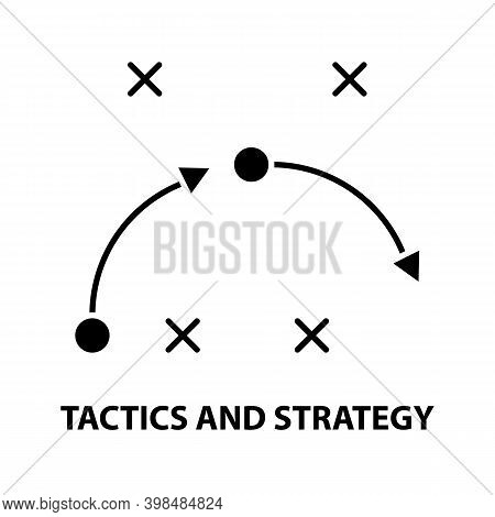 Tactics And Strategy Icon, Black Vector Sign With Editable Strokes, Concept Illustration