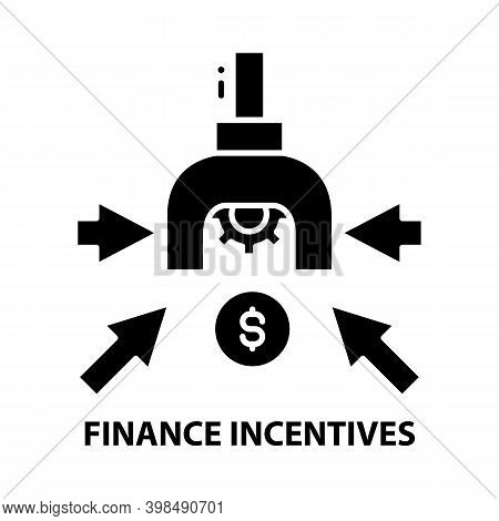 Finance Incentives Icon, Black Vector Sign With Editable Strokes, Concept Illustration