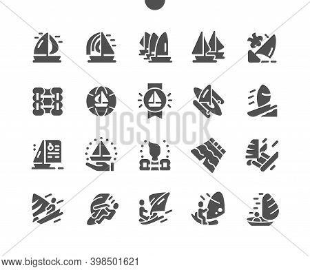 Sailing Yacht. Yachting And Windsurfing. Sailing Regatta. Reward For Sailing. Yachtsman Controls The
