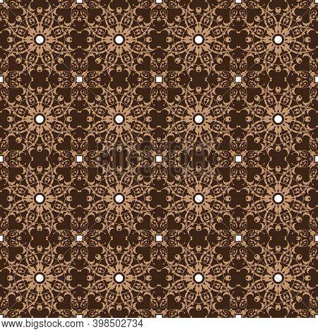 Beautiful Flower Patterns On Pekalongan Batik Design With Good Combination Blend Color Concept.