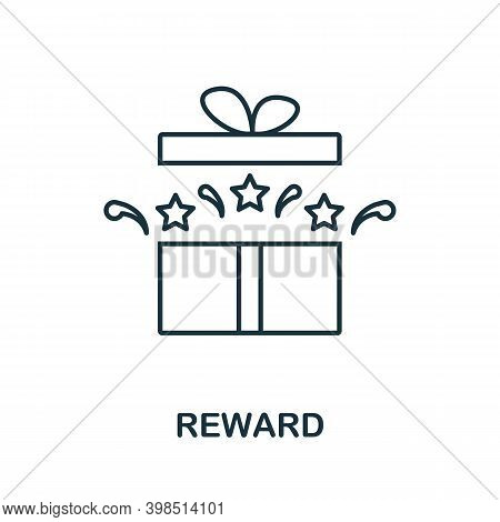 Reward Icon. Line Style Element From Loyalty Program Collection. Thin Reward Icon For Templates, Inf