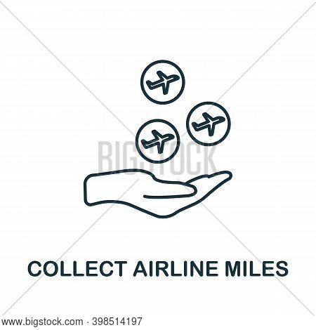Collect Airline Miles Icon. Line Style Element From Loyalty Program Collection. Thin Collect Airline