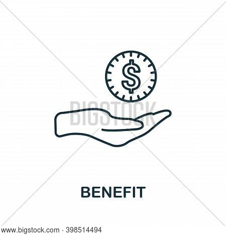 Benefit Icon. Line Style Element From Loyalty Program Collection. Thin Benefit Icon For Templates, I