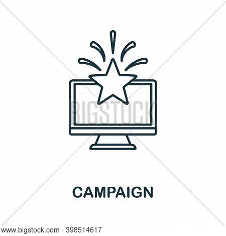 Campaign Icon. Line Style Element From Loyalty Program Collection. Thin Campaign Icon For Templates,