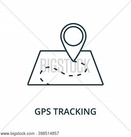 Gps Tracking Icon. Line Style Element From Navigation Collection. Thin Gps Tracking Icon For Templat