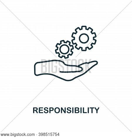 Responsibility Icon. Line Style Element From Personality Collection. Thin Responsibility Icon For Te